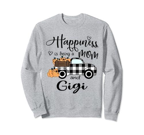 Happiness Is Being A Mom And Gigi Halloween Sweatshirt