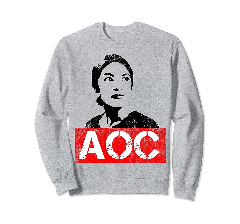 Alexandria Ocasio-Cortez AOC Support Distressed Sweatshirt