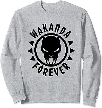 Marvel Black Panther Icon Wakanda Forever Circle Sweatshirt