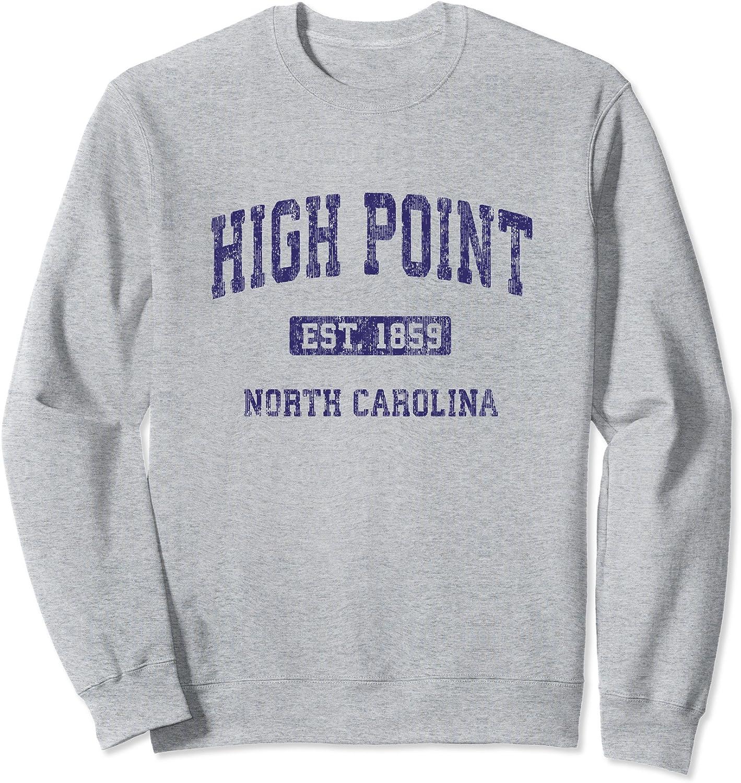High Point North Carolina Athletic Text Sport Style Sweatshirt