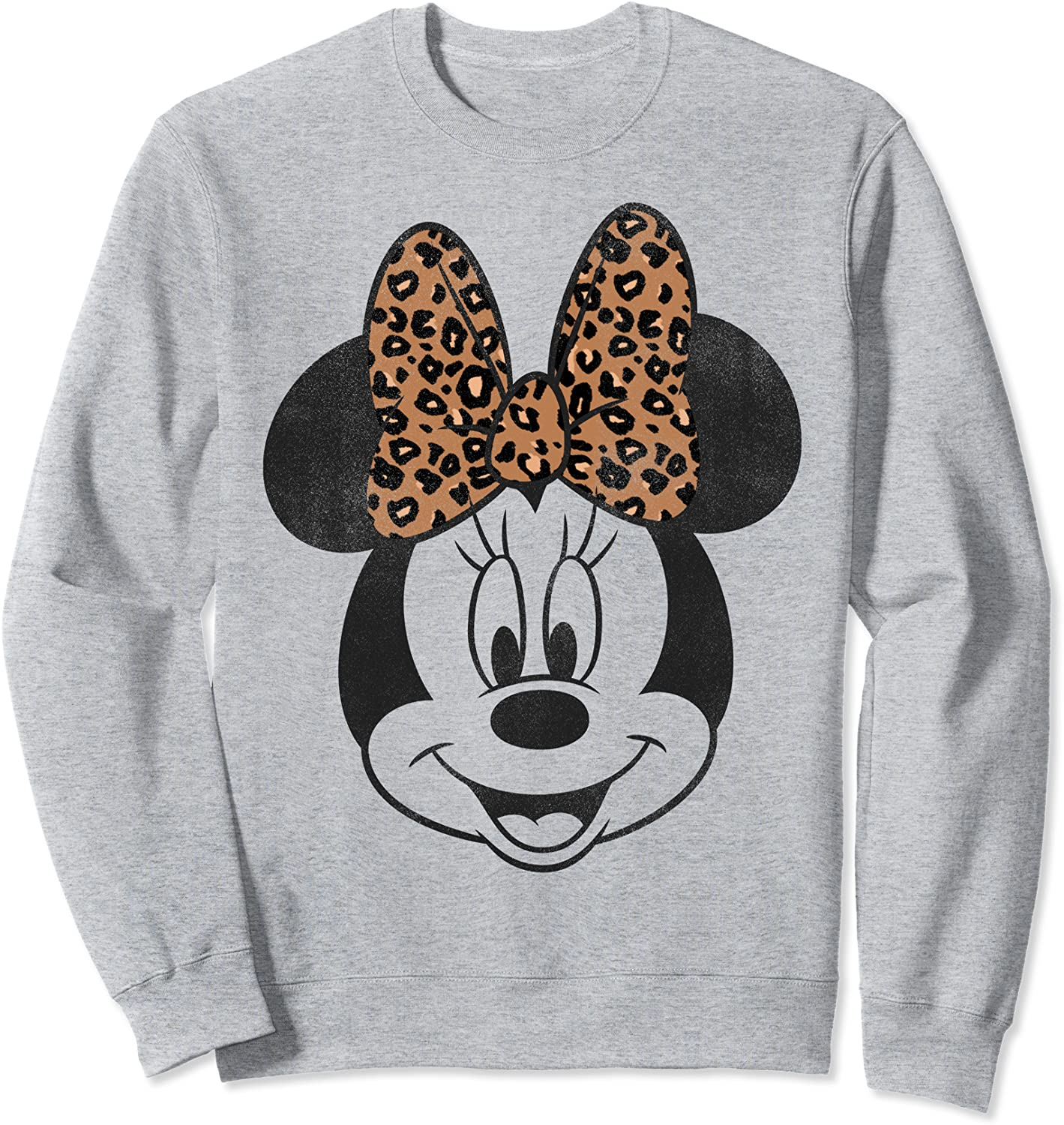 Disney Minnie Mouse Leapord Sweatshirt Dealing full price reduction Bow Portrait Discount is also underway Print