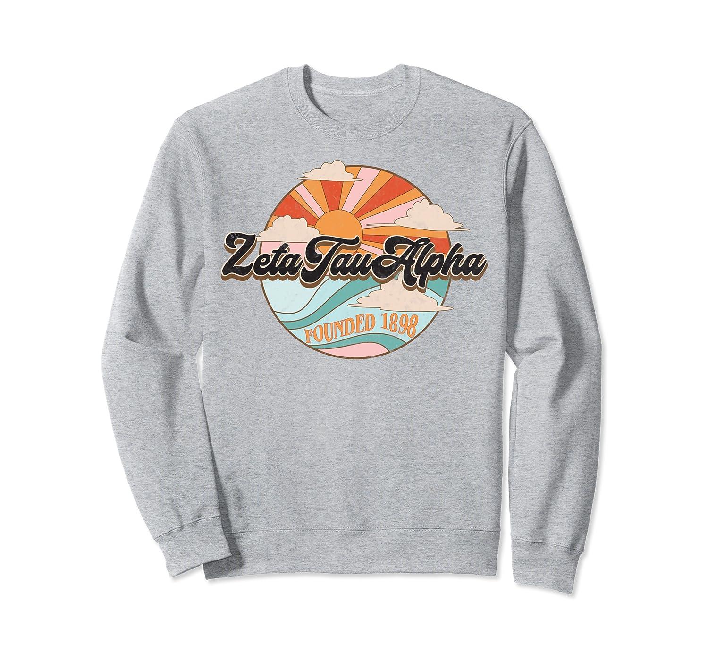 Zeta Tau Alpha Pledge Rush Sorority Vintage ZTA Sun Clouds Sweatshirt Unisex Tshirt