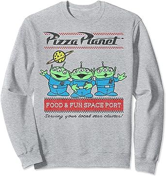 Disney Pixar Toy Story Pizza Planet Aliens Sweatshirt