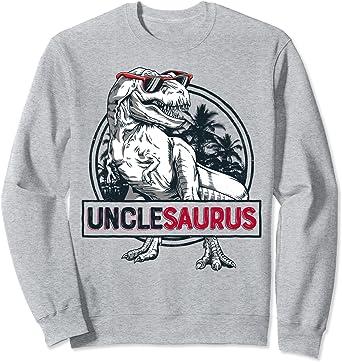 Unclesaurus T rex Dinosaur Men Uncle Saurus Family Matching Sweatshirt