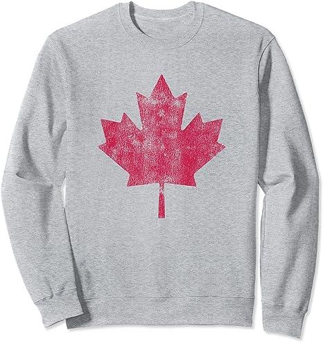 Vintage Canada Flag Retro Canadian Sweatshirt