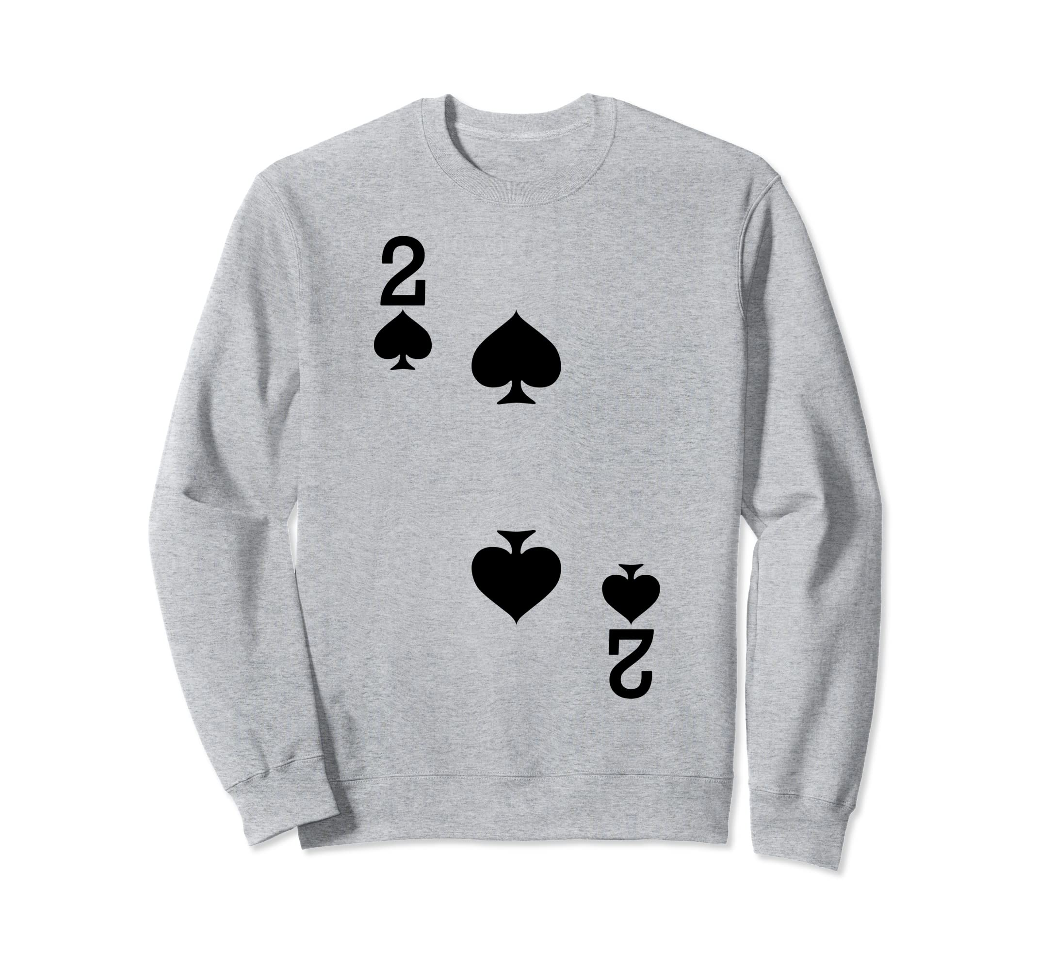 2 of Spades - Playing Card Halloween Costume Sweatshirt-Rose