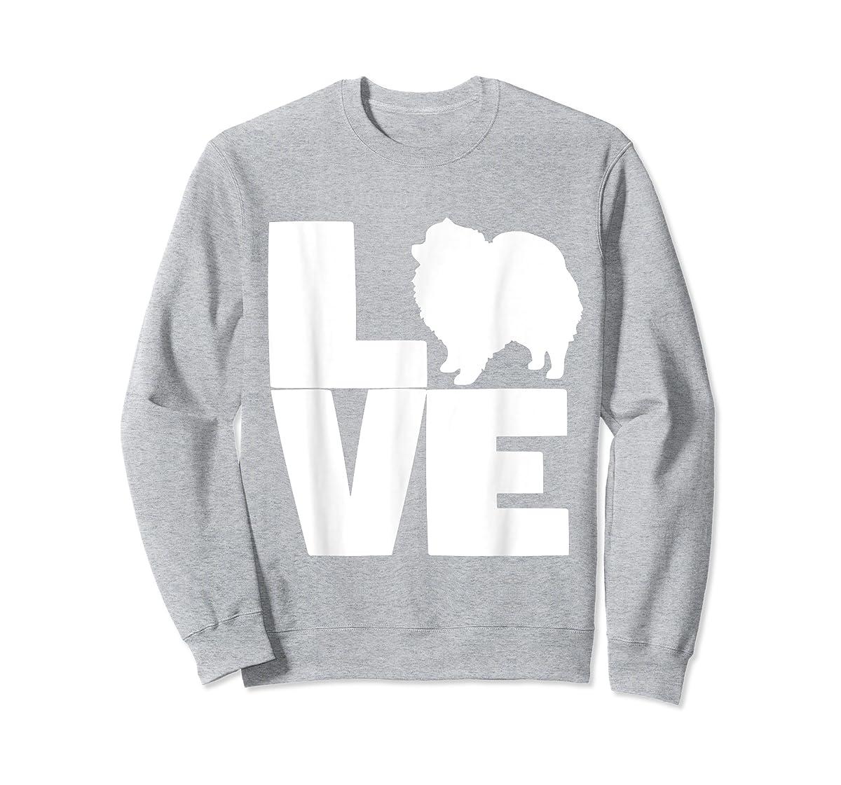 I Love Pomeranians Pom Mom or Dad Pet Lover T Shirt-Sweatshirt-Sport Grey