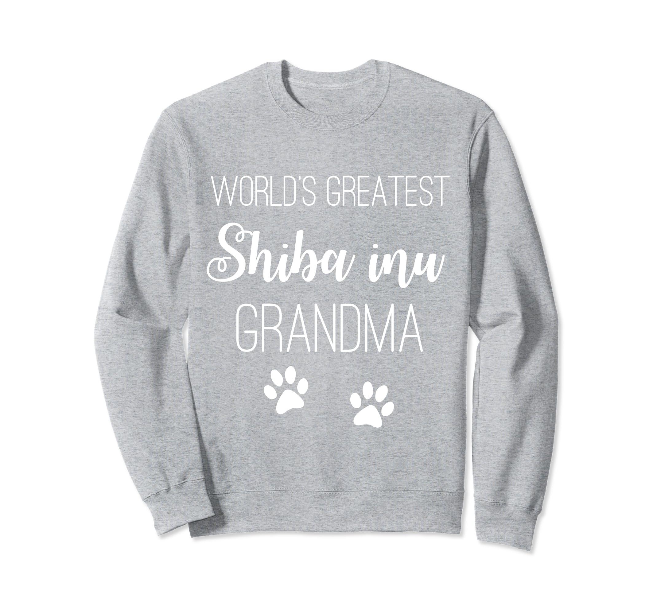 WORLDS GREATEST SHIBA INU GRANDMA SWEATSHIRT-SFL