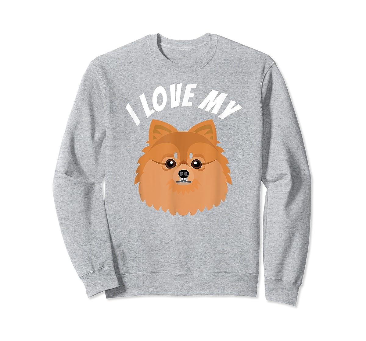 I Love My Pomeranian T-Shirt Dog Lover Tee-Sweatshirt-Sport Grey