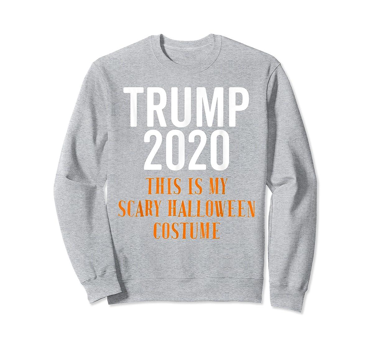 Scary Halloween No More Trump Funny Costume Anti Political T-Shirt-Sweatshirt-Sport Grey