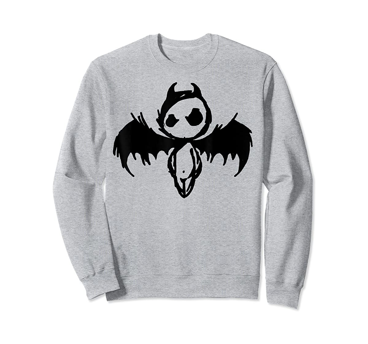 Cute Demon Vintage Couple Matching Halloween Party Costume  T-Shirt-Sweatshirt-Sport Grey