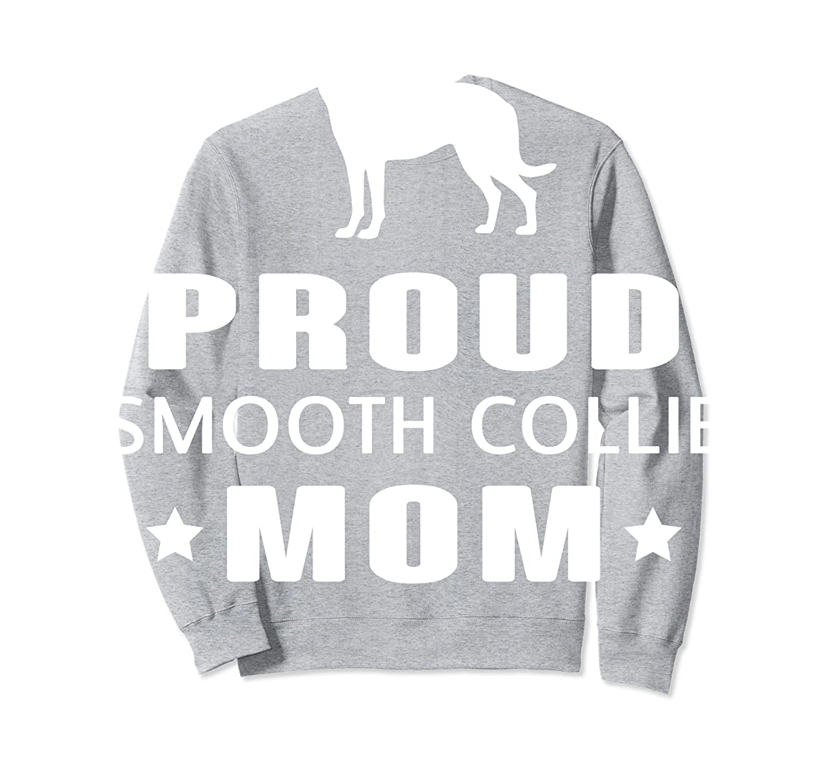 Smooth Collie Funny T-Shirts For Dog Lovers-Sweatshirt-Sport Grey
