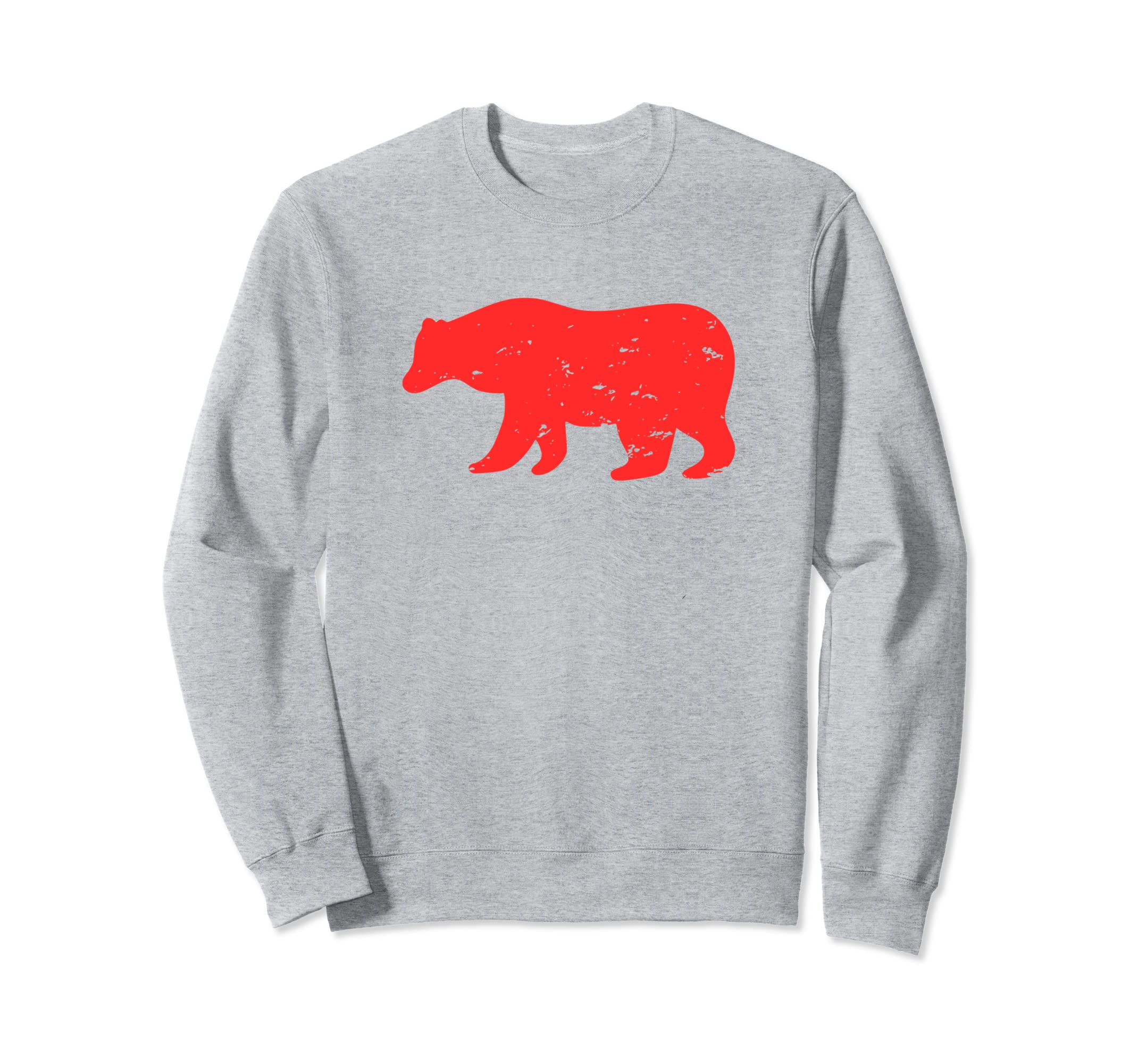 Distressed Christmas Bear Holiday Winter Sweatshirt-SFL