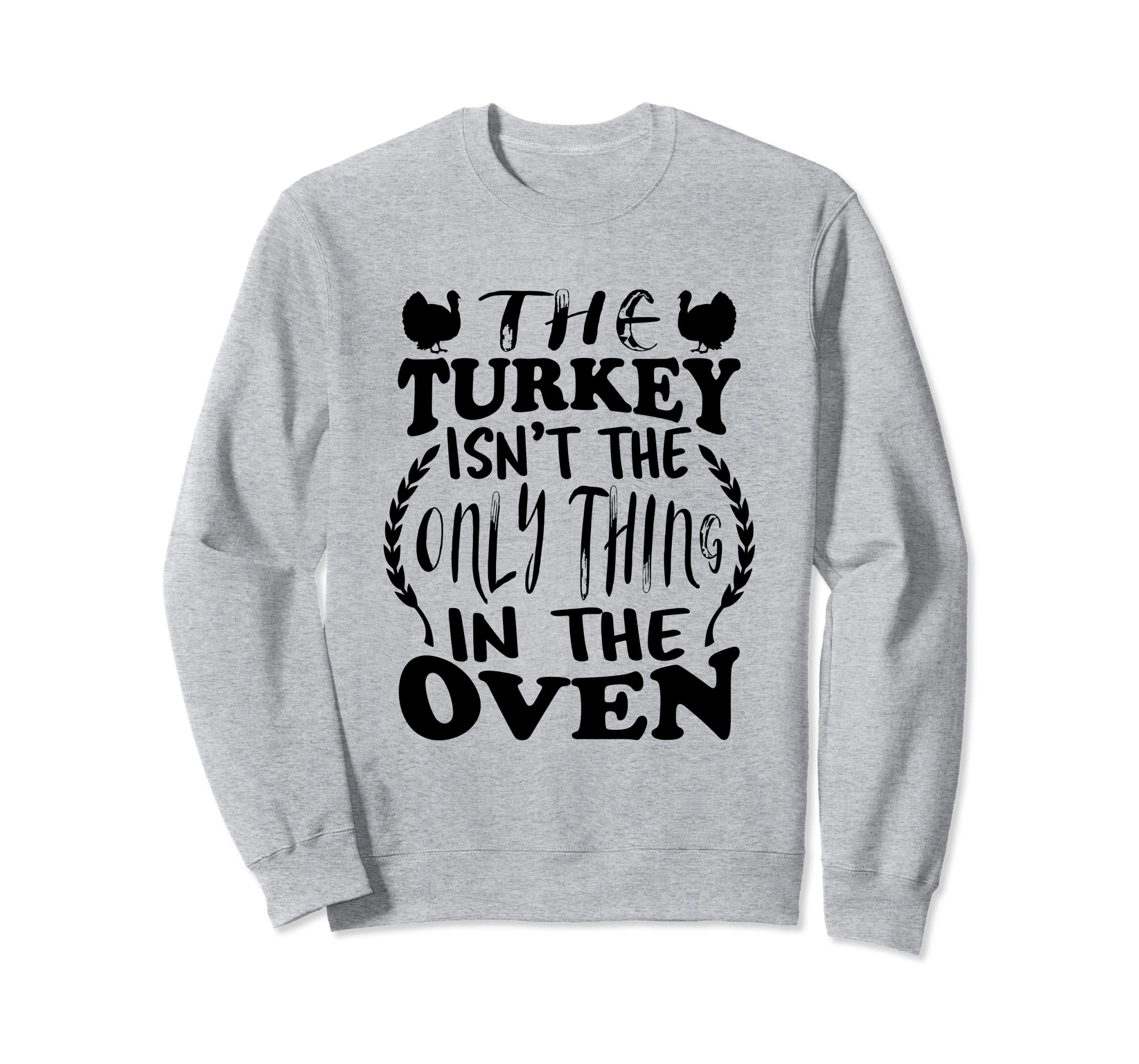 259ad618 Amazon.com: Pregnant Announcement Sweatshirt Thanksgiving Expecting Baby:  Clothing