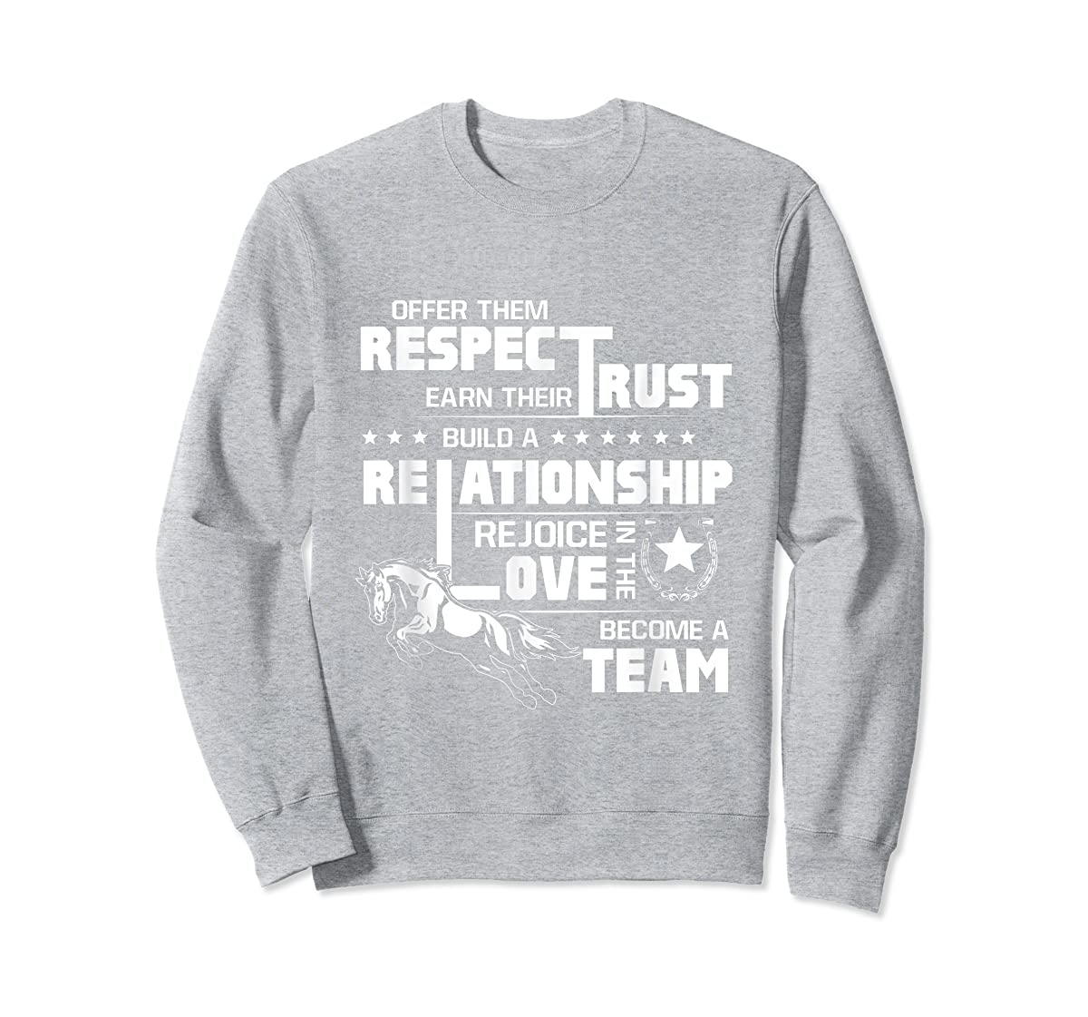 Cool Horse T-shirt with great quote for equestrian lover tee-Sweatshirt-Sport Grey