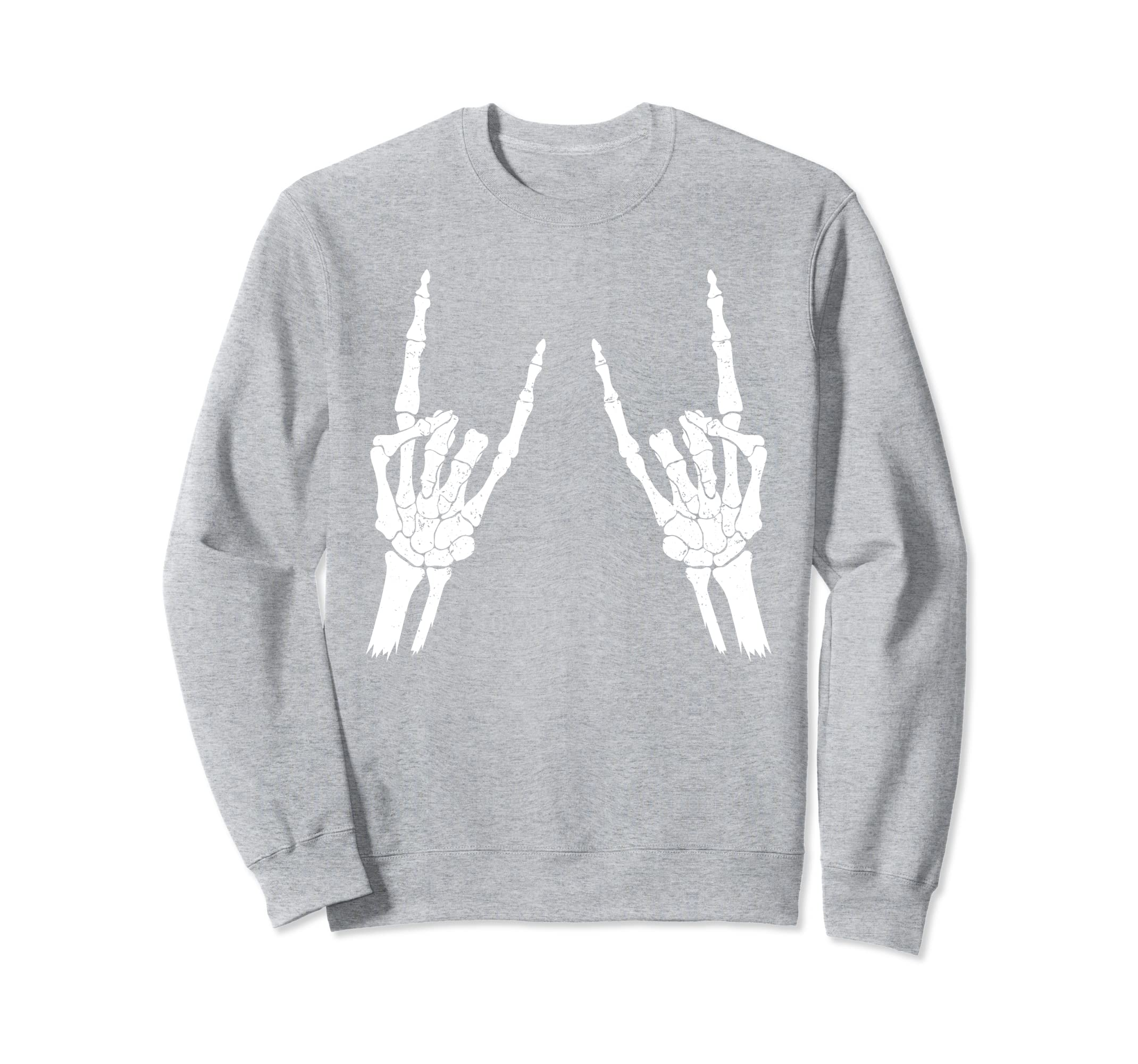 Skeleton Rocker Sweatshirt Halloween Trick Or Treat Gift-Rose