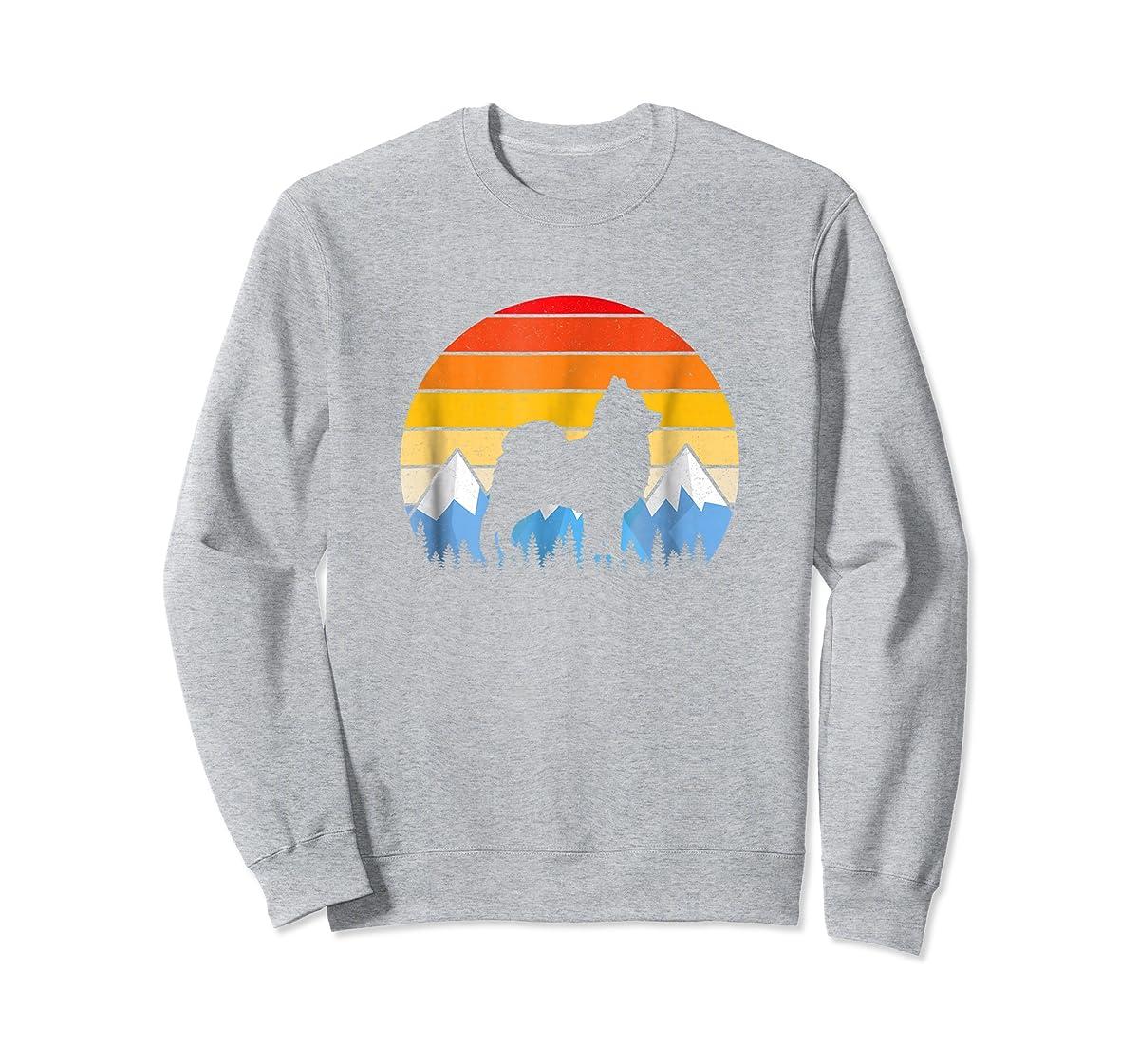 Vintage Retro Pomeranian Lovers Gifts Pomeranian T Shirts-Sweatshirt-Sport Grey