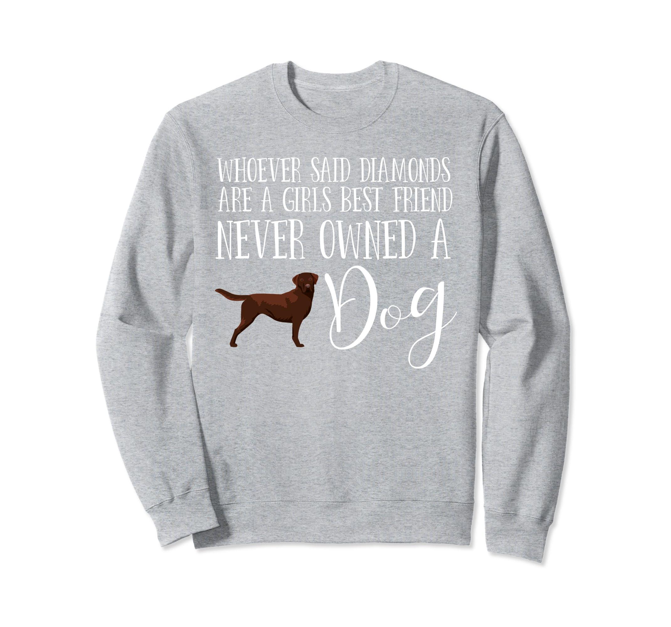 Chocolate Labrador Retriever Sweatshirt Love My Lab-ln