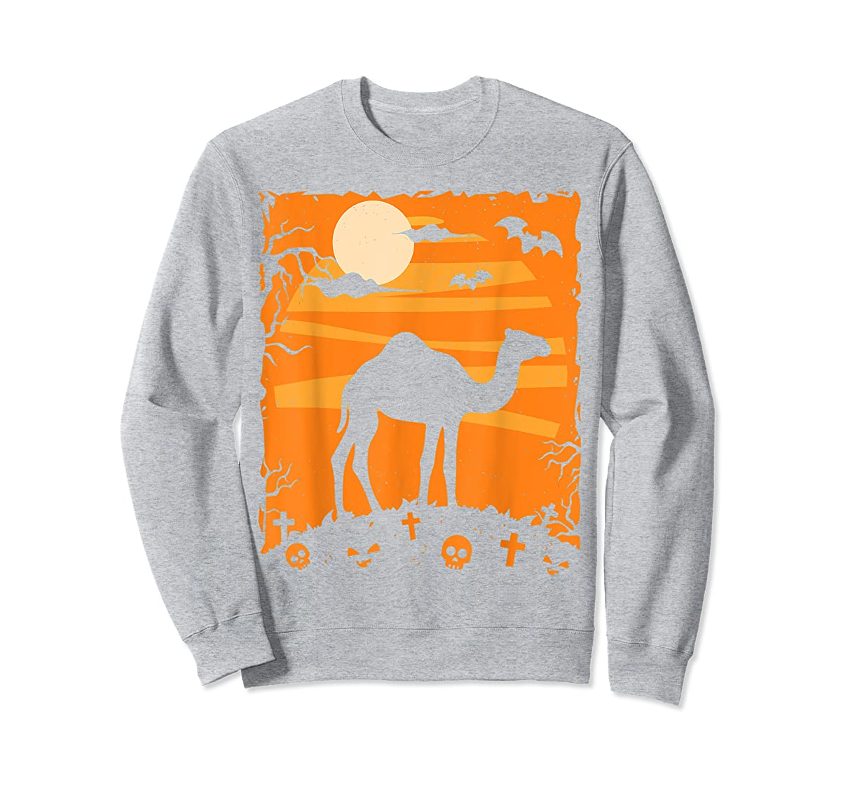 Camel Halloween Costume Animal Funny Pumpkin Outfit Gift T-Shirt-Sweatshirt-Sport Grey