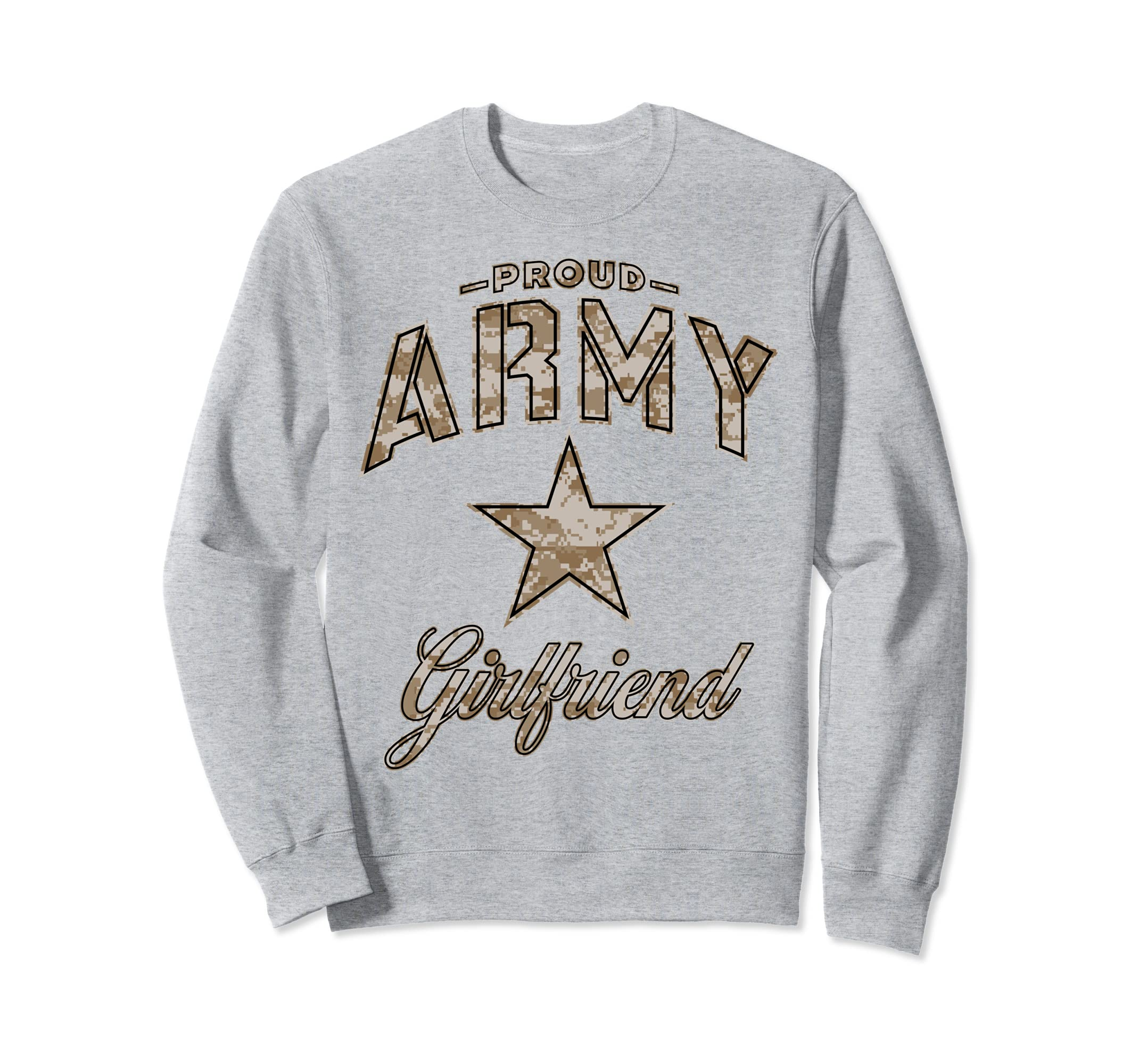 Army Girlfriend Sweatshirt for Women (Camo)-mt