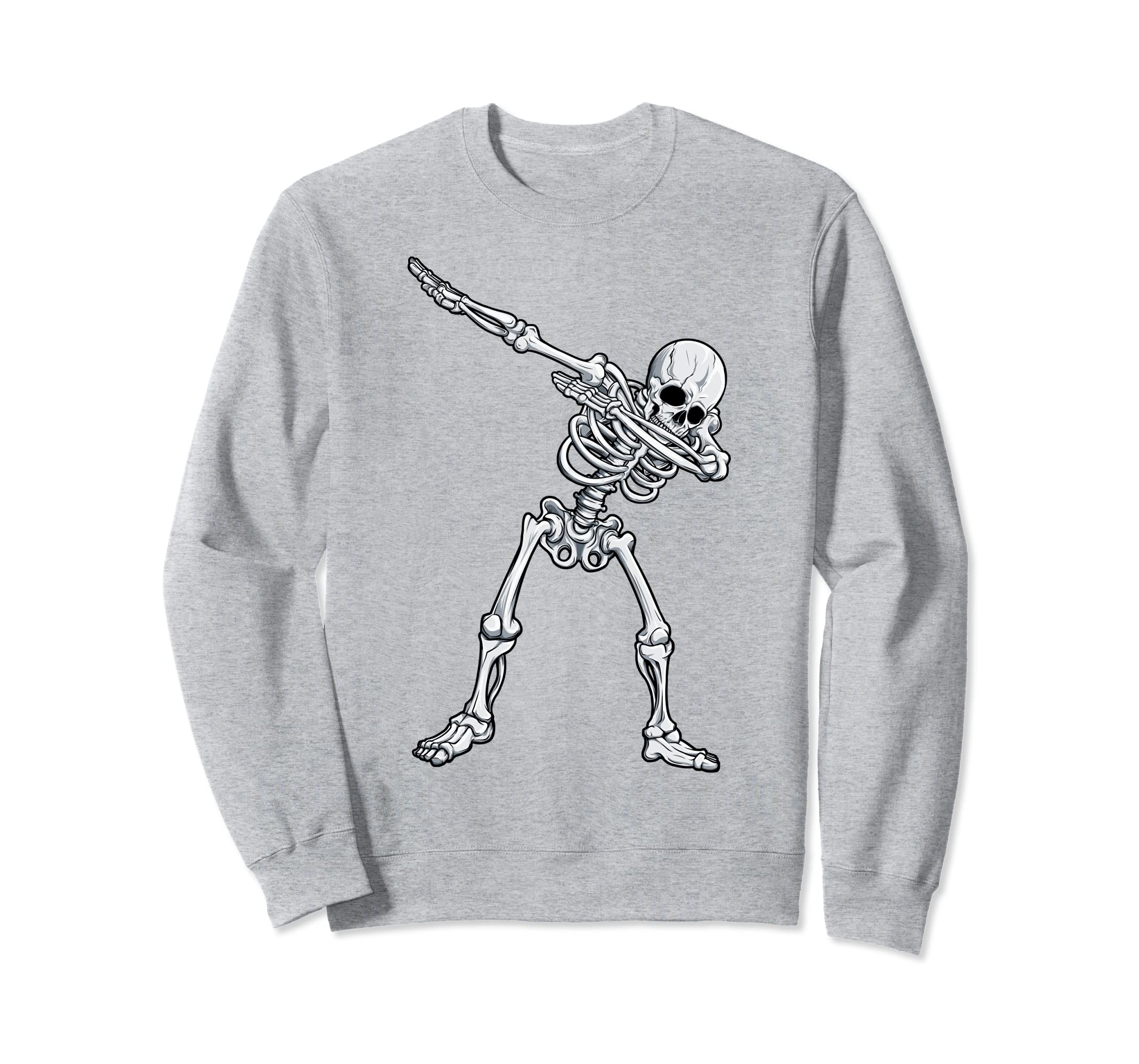Dabbing Skeleton Sweatshirt Halloween Men Women Funny Dab-ANZ