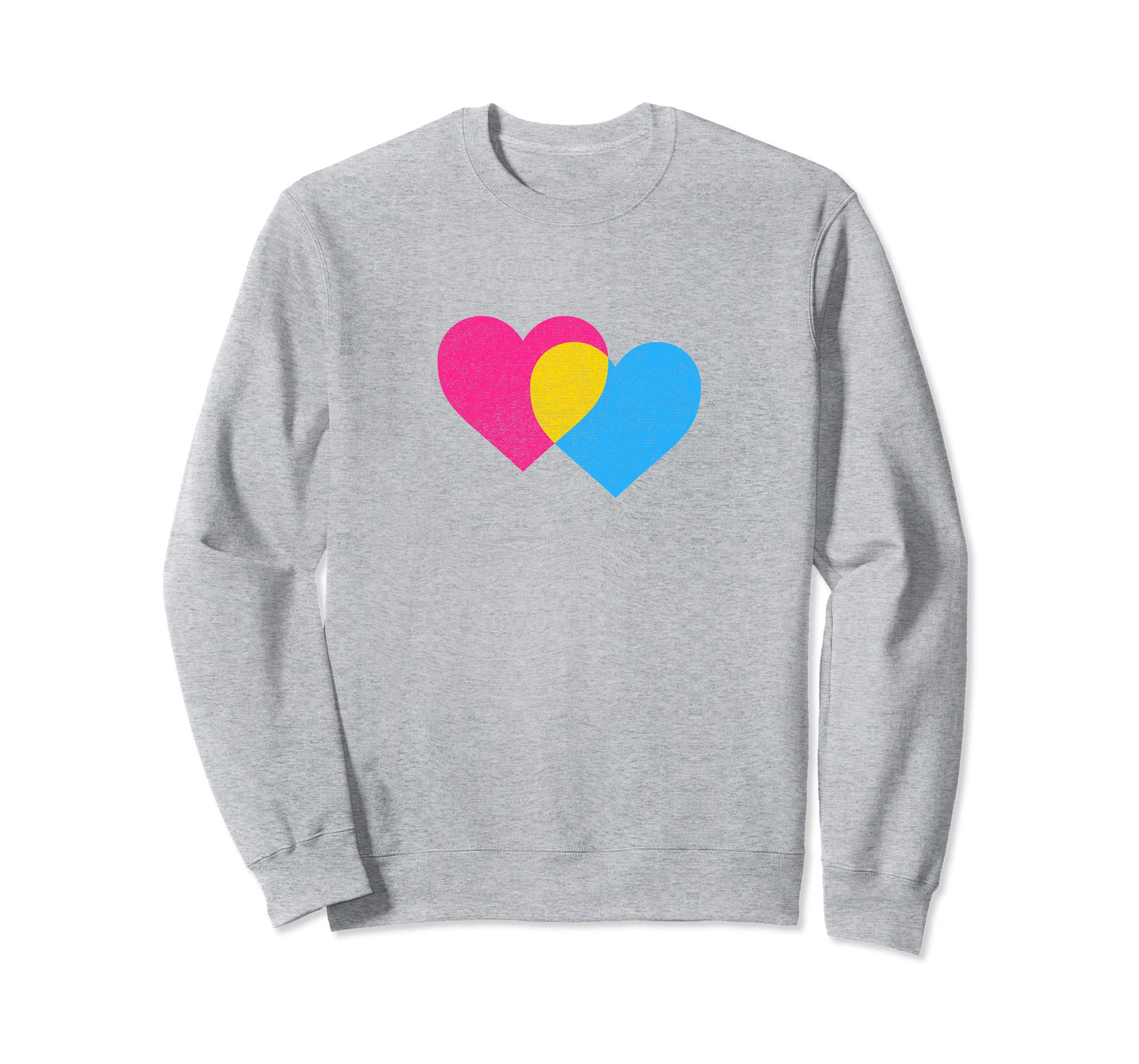 Pansexual Twin Heart  distressed classic design-azvn