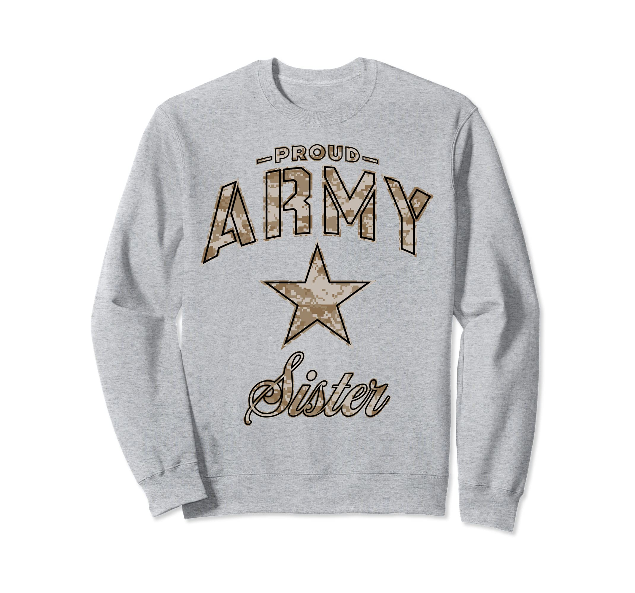 Army Sister Sweatshirt for Women (Camo)-mt