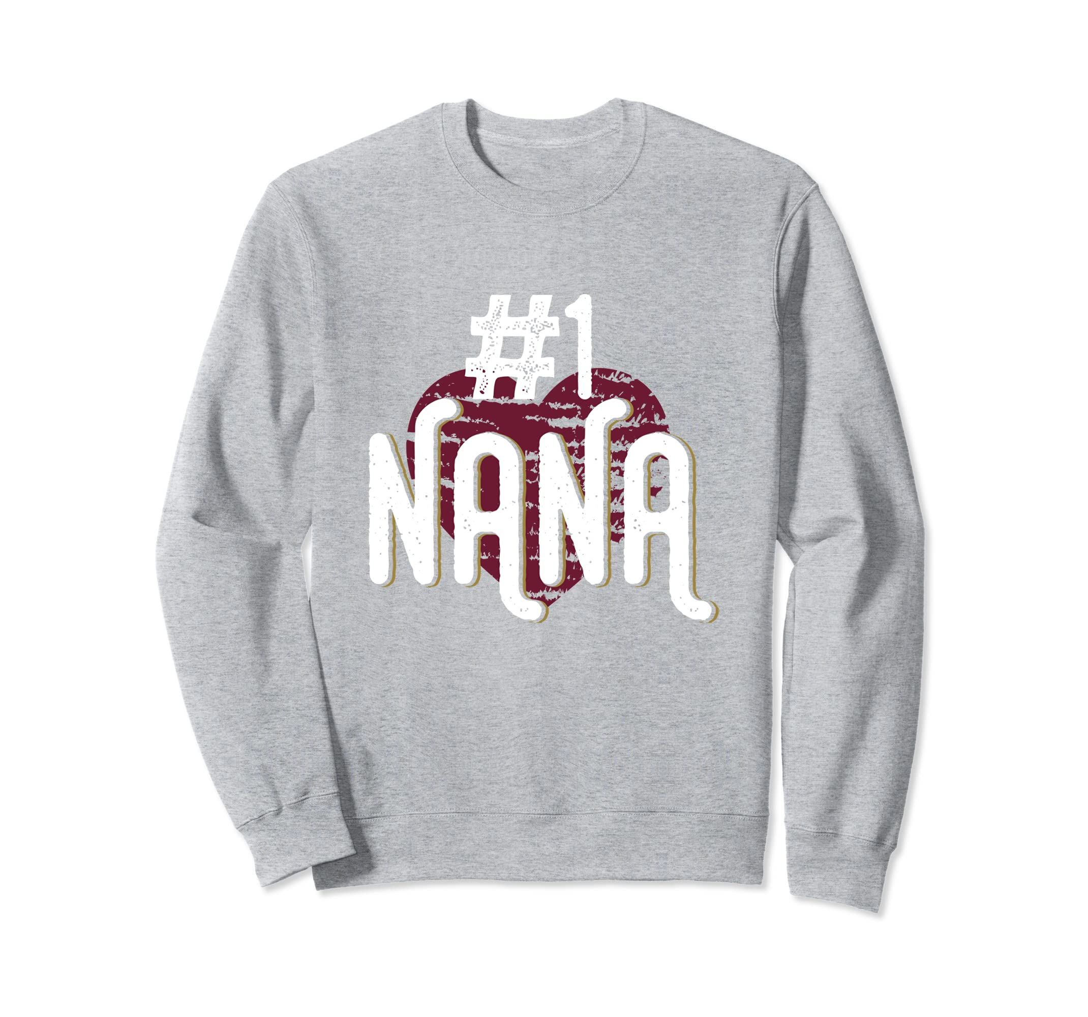 #1 Nana Distressed Cool Grandma Grandparent Sweatshirt Gift-anz