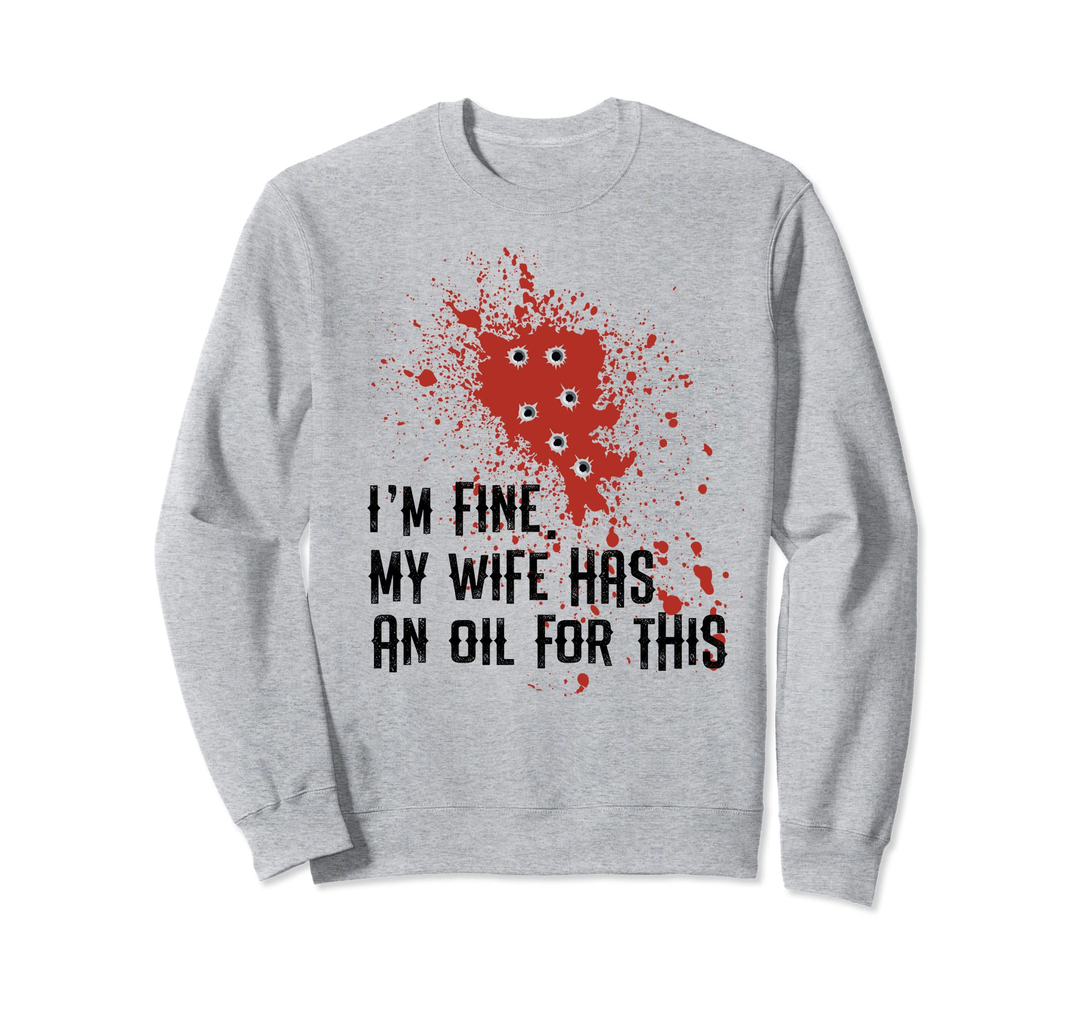 Essential Oils Husband Blood fun Halloween Sweatshirt gift-Rose