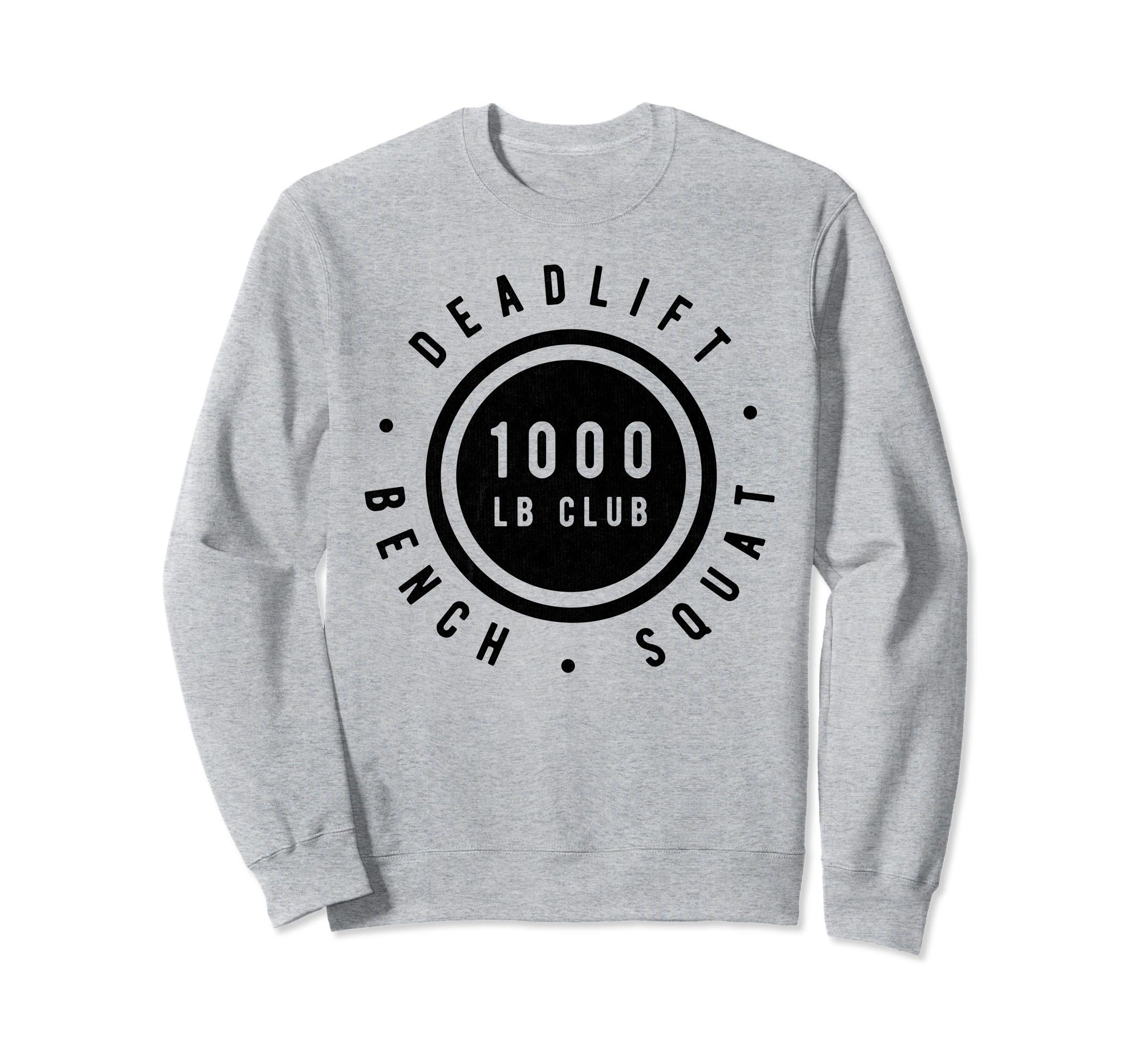 1000lb Club Body Builder Strong Classic Vintage Sweatshirt-ln