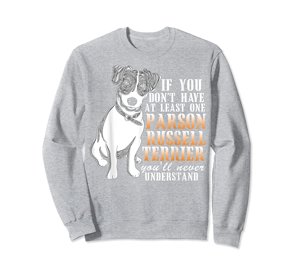 Parson Russell Terrier T Shirt, I Love My Dog T Shirt-Sweatshirt-Sport Grey