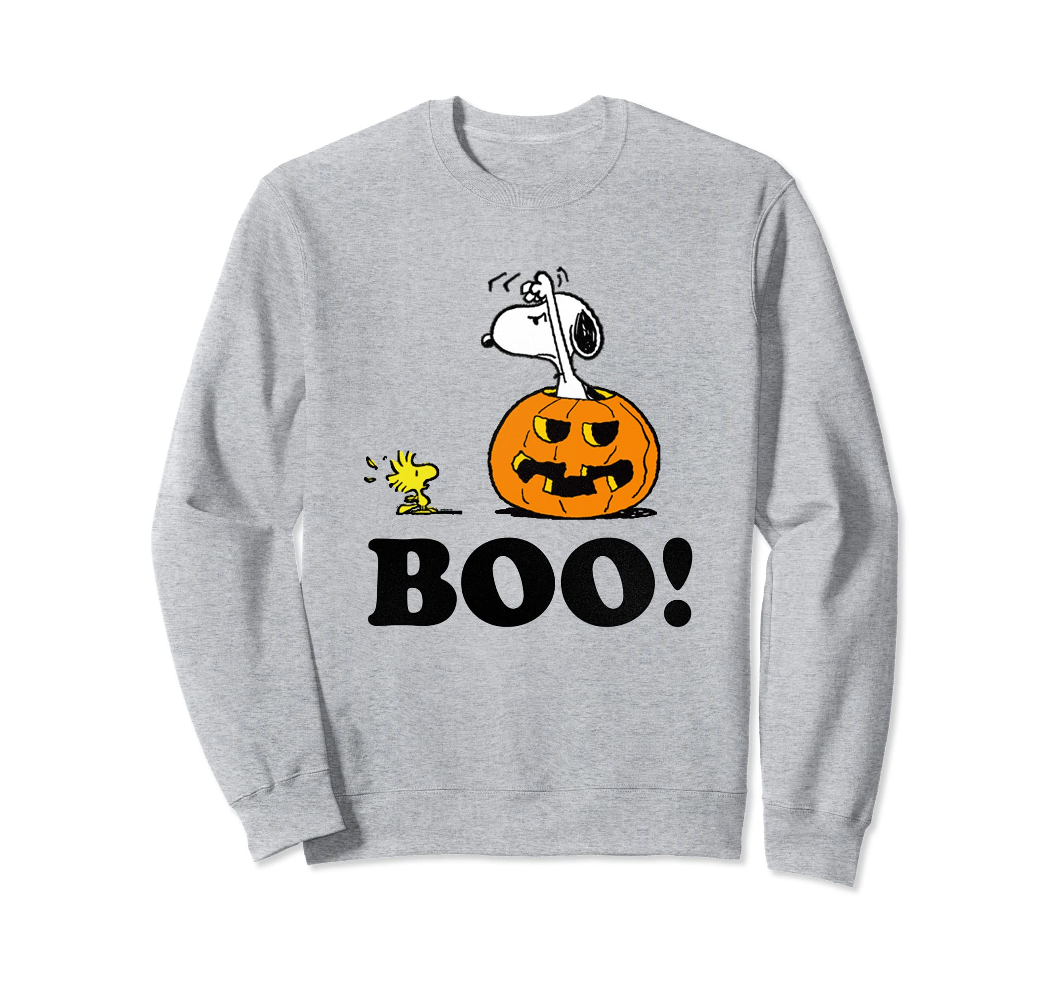 4c0813221 Amazon.com: Peanuts Halloween Snoopy Woodstock BOO! Pullover Sweatshirt:  Clothing