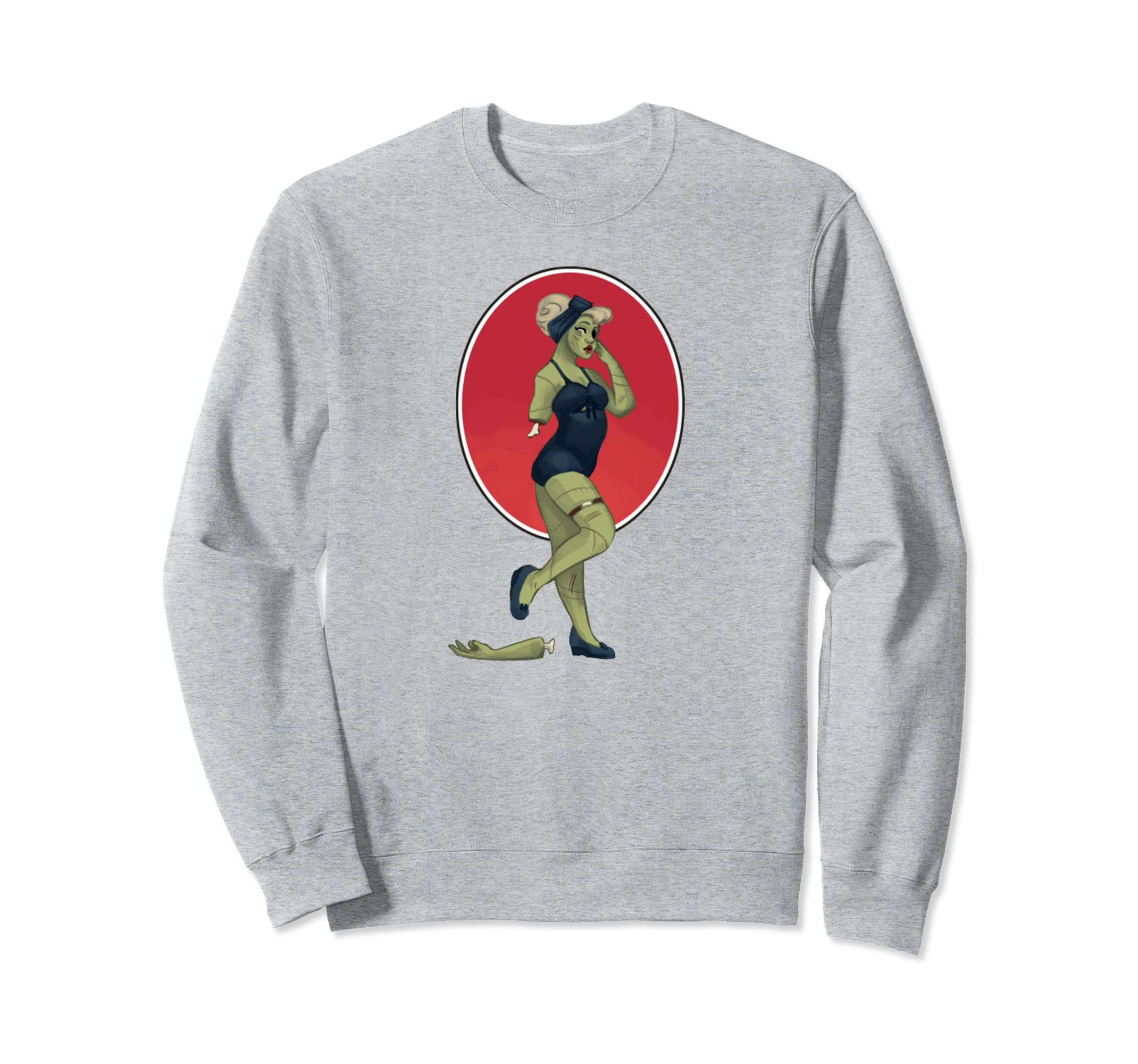 Zombie Pin Up Girl Halloween Sweatshirt-ANZ