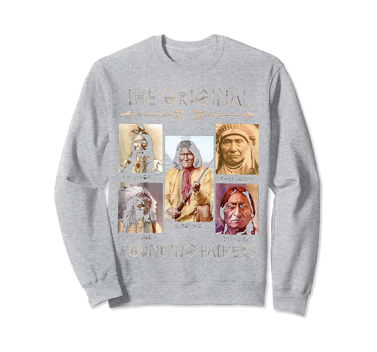 the original founding fathers native classic shirt-Sweatshirt-Sport Grey