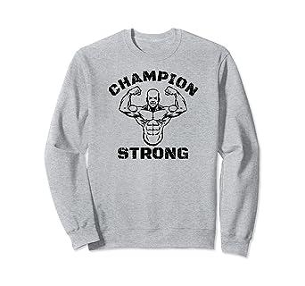cb34ff74d7793 Amazon.com: CHAMPION STRONG BODYBUILDING MMA SWEATSHIRT: Clothing