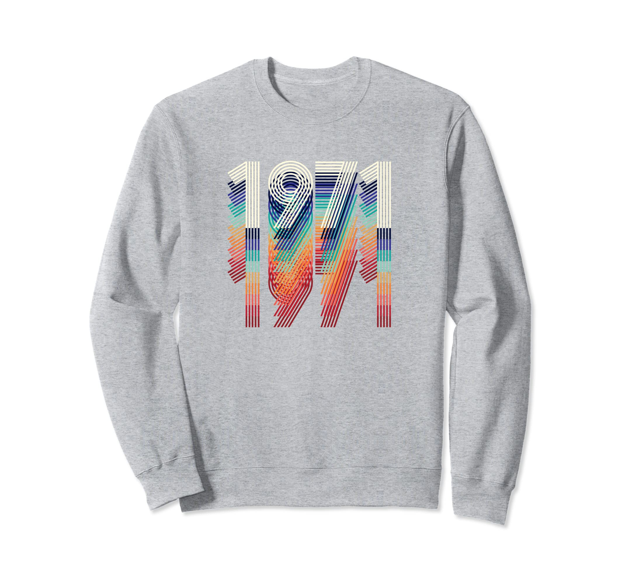 Vintage 1971 Sweatshirt 48th Birthday Gift Retro Men Women-azvn