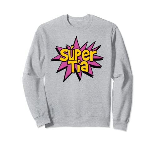 Amazon.com: Super Auntie - Spanish Tia Titi Superhero Comic Sweatshirt: Clothing