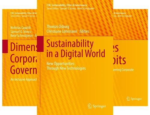 CSR, Sustainability, Ethics & Governance (51-90) (40 Book Series)