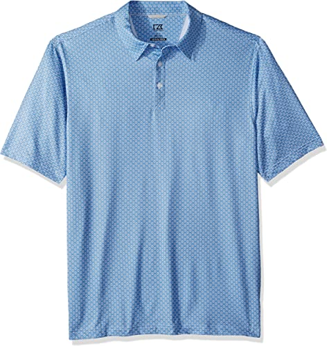Cutter & Buck Hommes's Moisture Wicking Drytec UPF 50+ Print Jersey Polo Shirt, Bolt Passage Print, 4X Tall