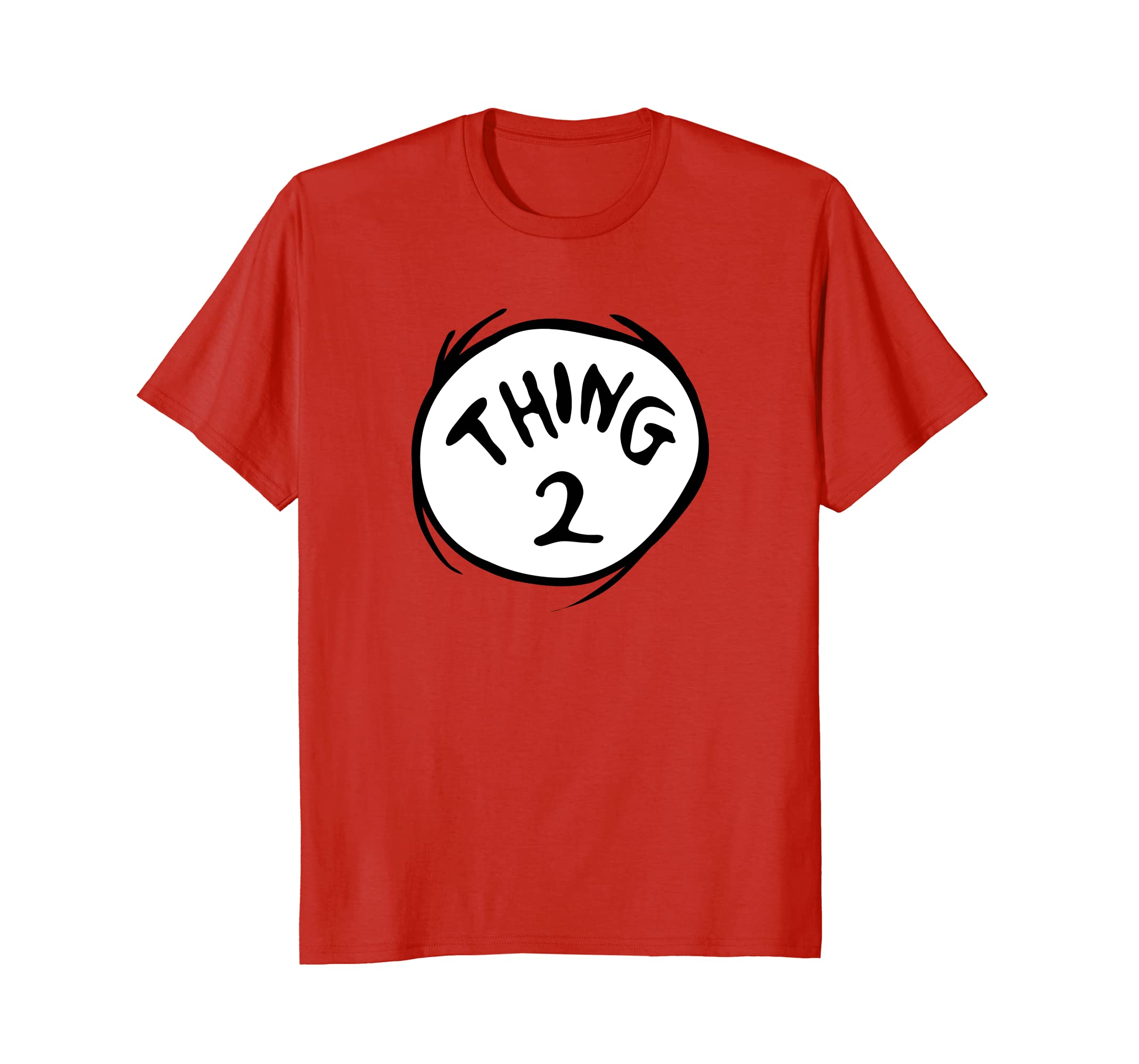 Dr. Seuss Thing 2 Emblem RED T-shirt-ln