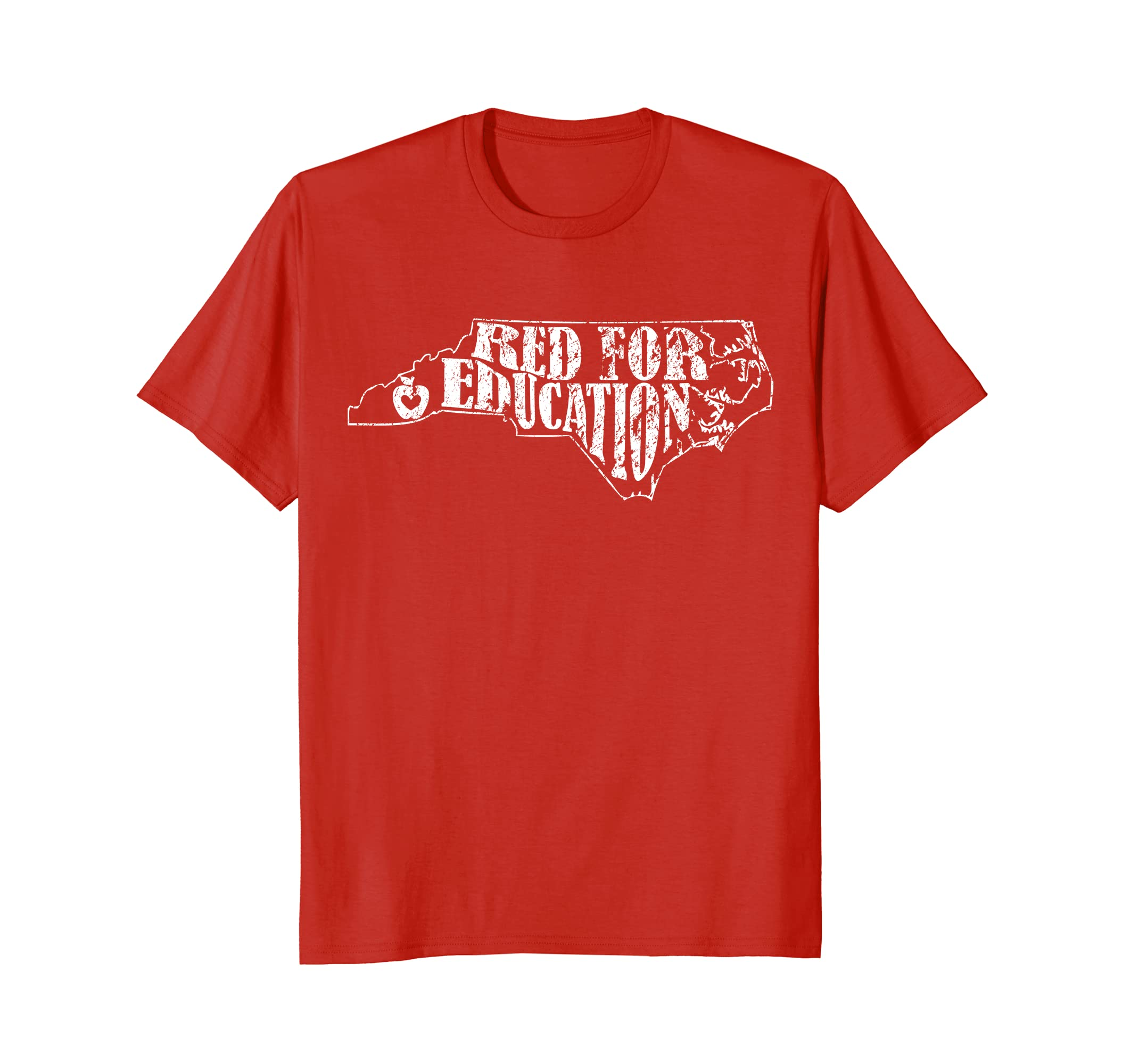 Distressed North Carolina NC Red for Ed Shirt Women Men Kids-alottee gift