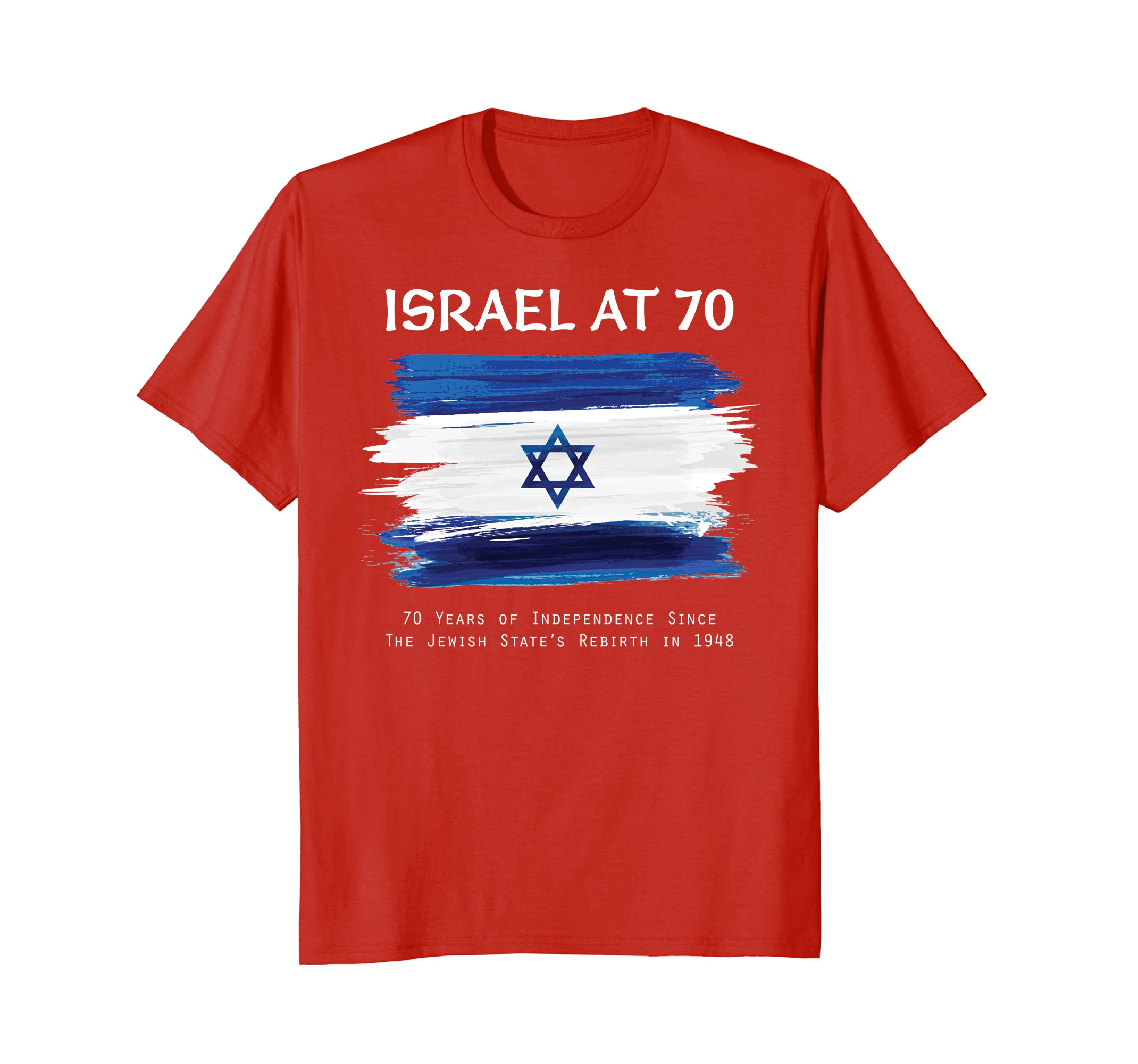 Israel At 70 Years Old Independence Happy Birthday T Shirt Alottee Gift