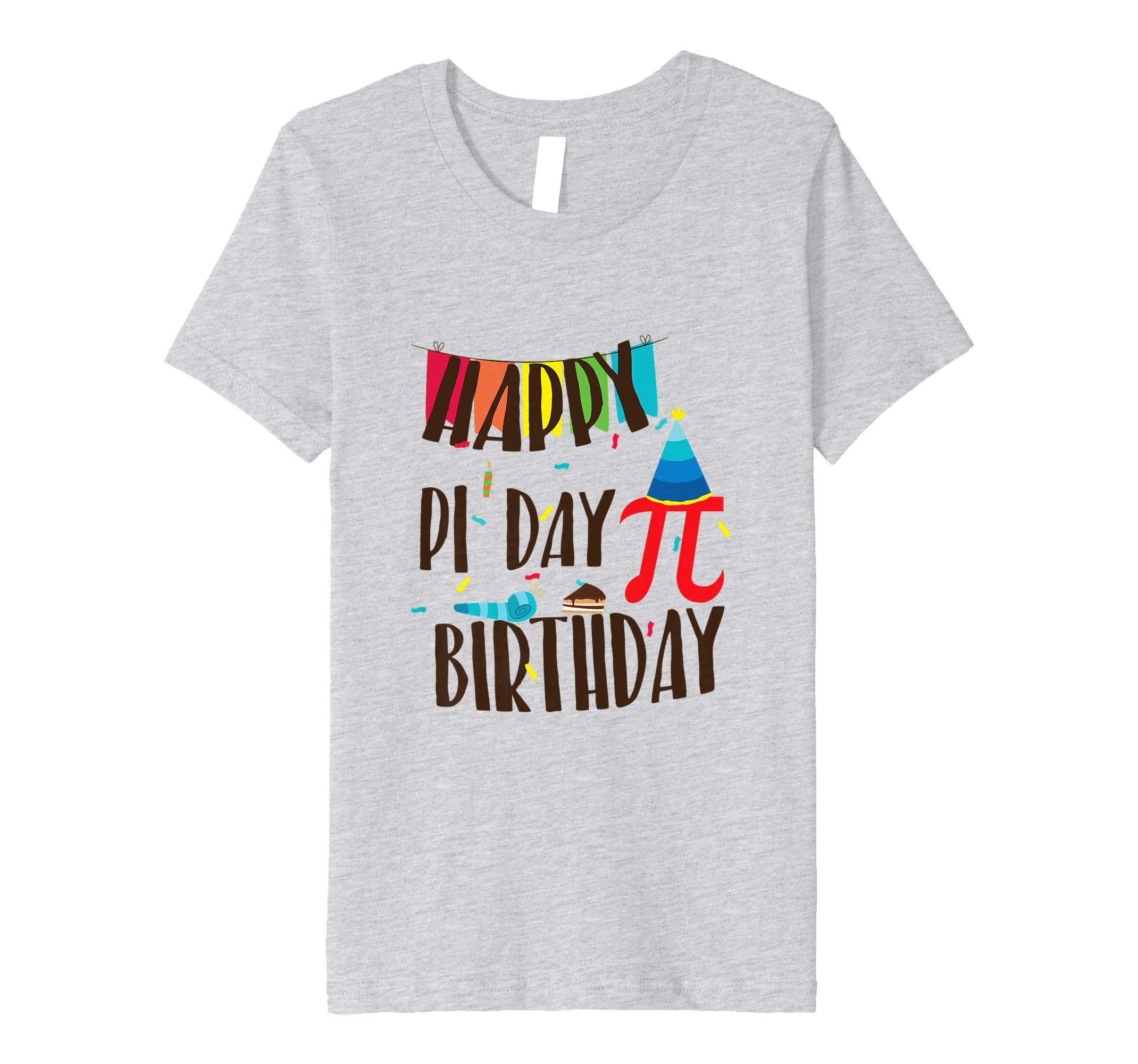 95279bc4 Amazon.com: Pi Day 2019 Math Geeks Birthday T-Shirt Kids Teacher Major:  Clothing