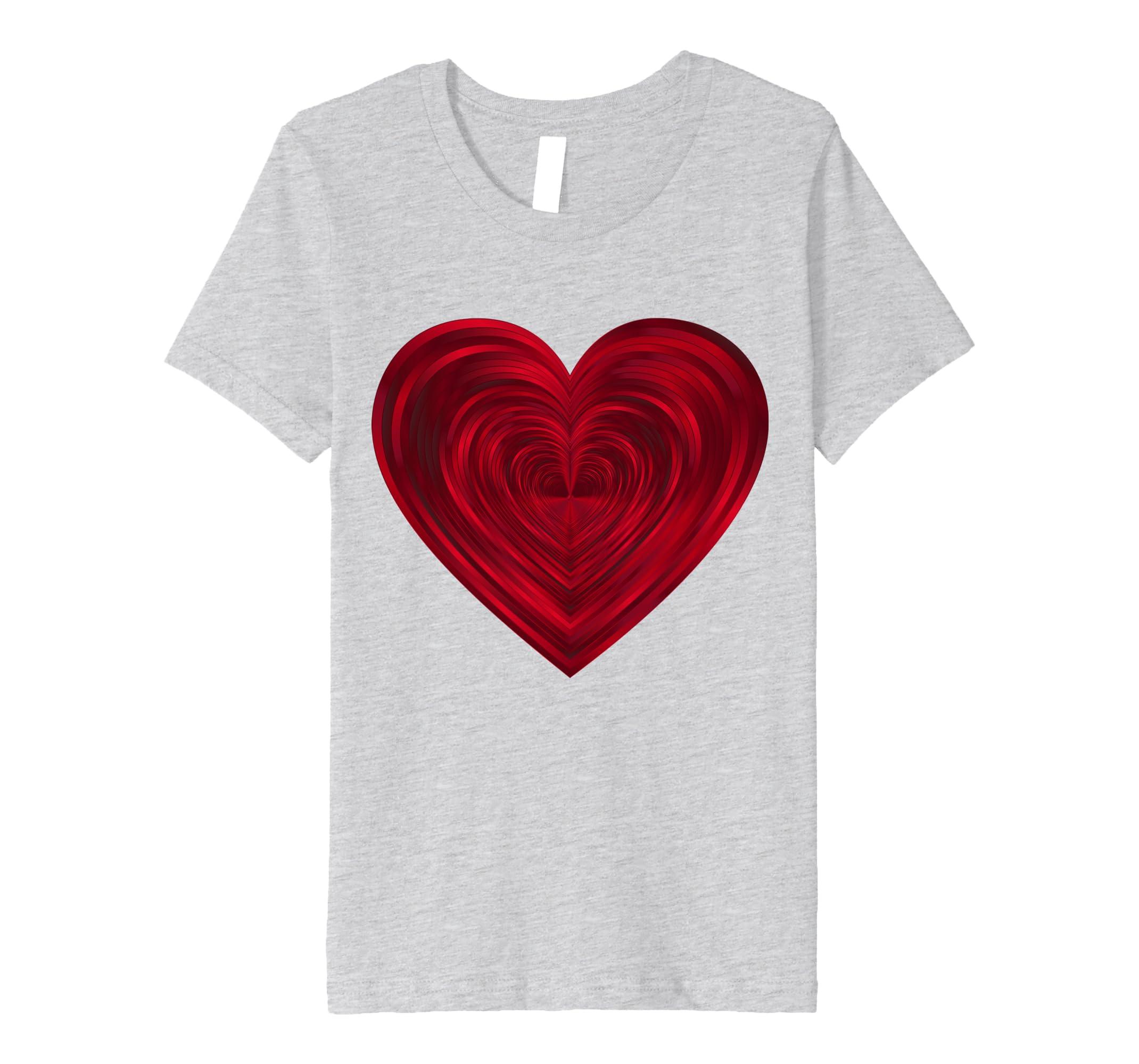 Amazon.com  Big Red Heart T Shirt Classic Valentine s Day Women Men Kids   Clothing 4026c2b4e5