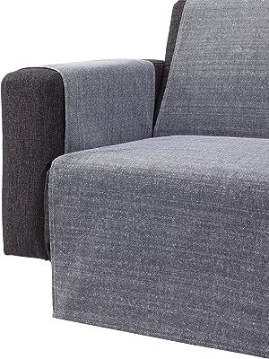 Zebra textile 43595 Sofaüberwürf berêt 1 places Gris