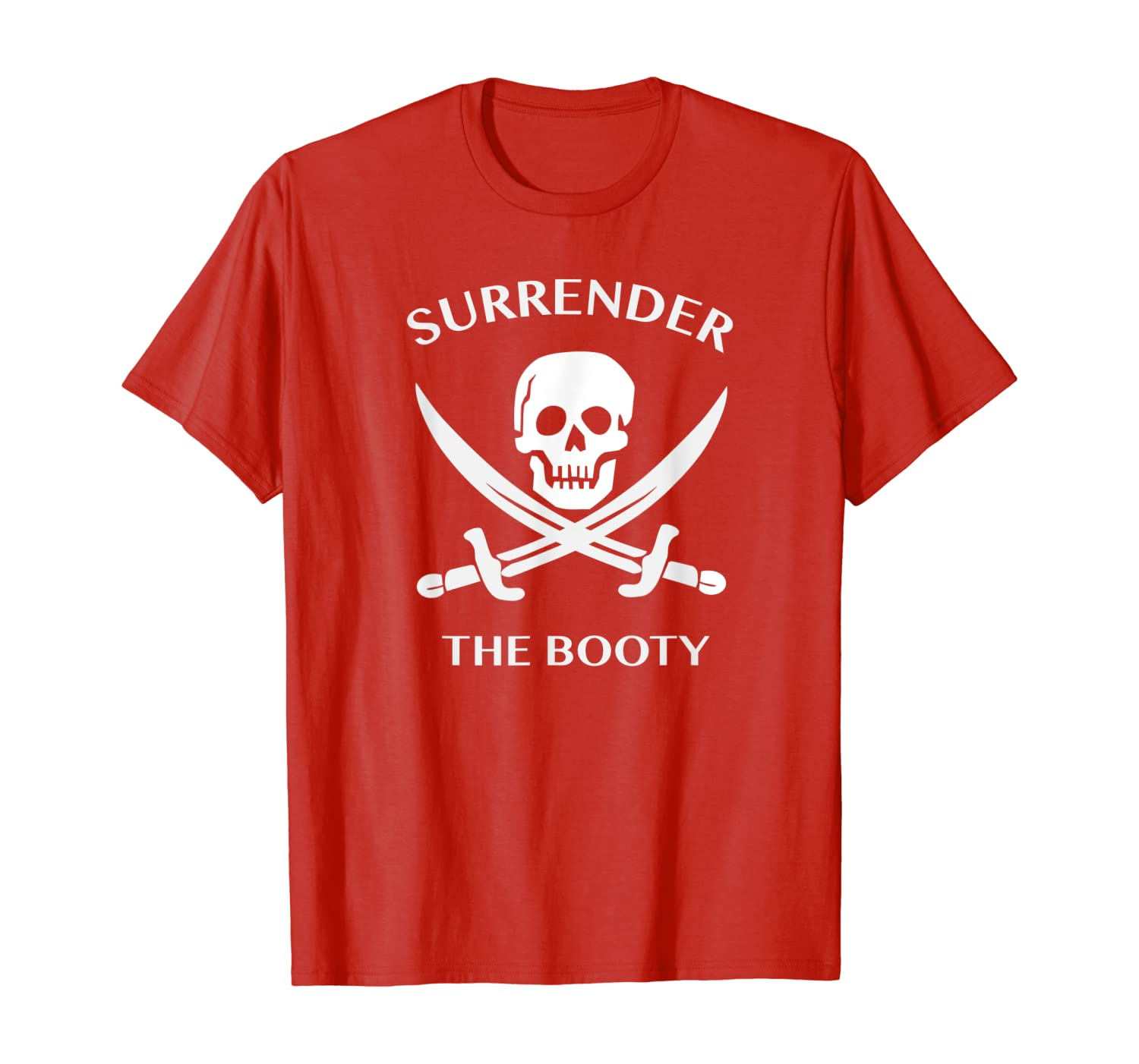 The Booty Adult Funny Pirate T-Shirt Tee