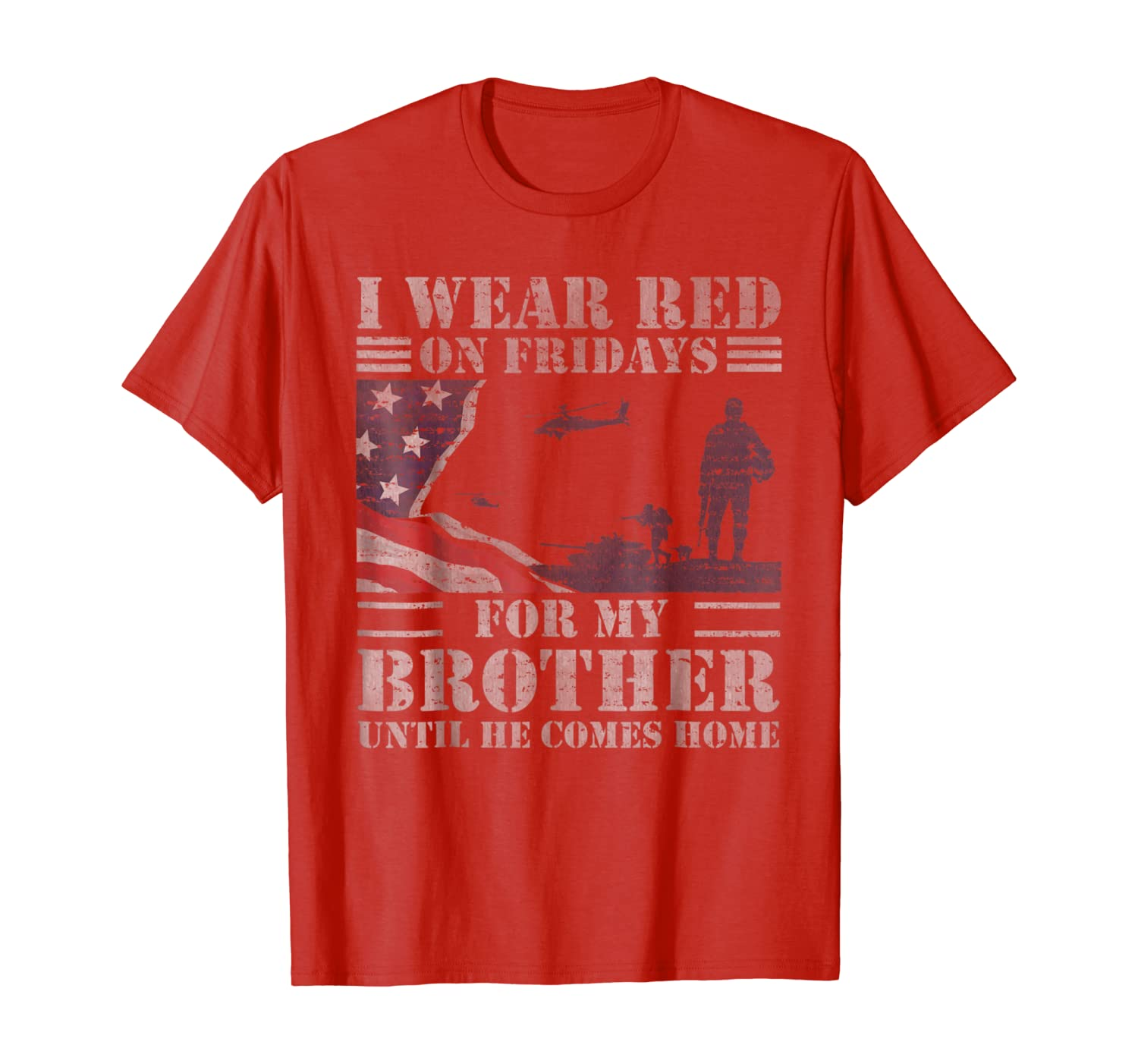 Red Friday Brother Remember Everyone Deployed T-Shirt Gift