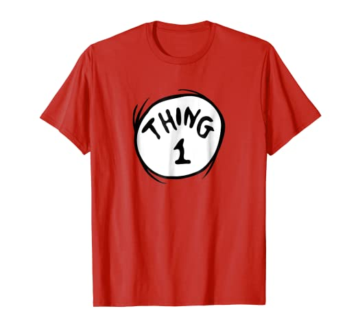 picture regarding Thing 1 and Thing 2 Printable Iron on Transfer identify Dr. Seuss Factor 1 Brand Purple T-blouse