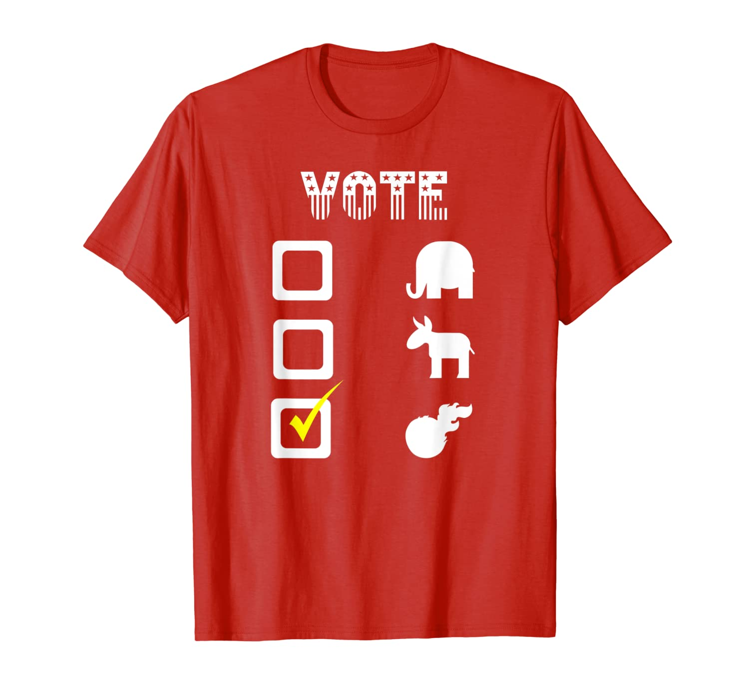 Funny Election 2020 Vote For Giant Meteor Political Humor T-Shirt-TH