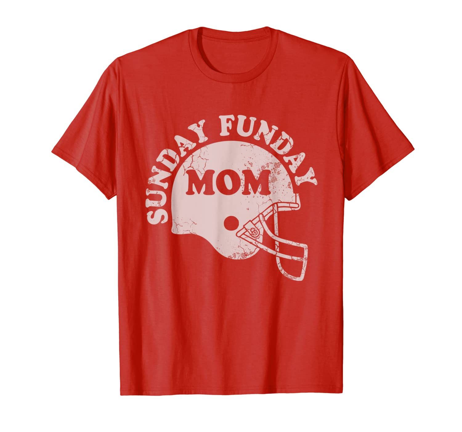 Sunday Funday Football Mom Funny Quotes Humor Sayings Women T-Shirt-TH
